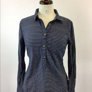 Merona Stripes Designer Shirt Size S/P (B-73)